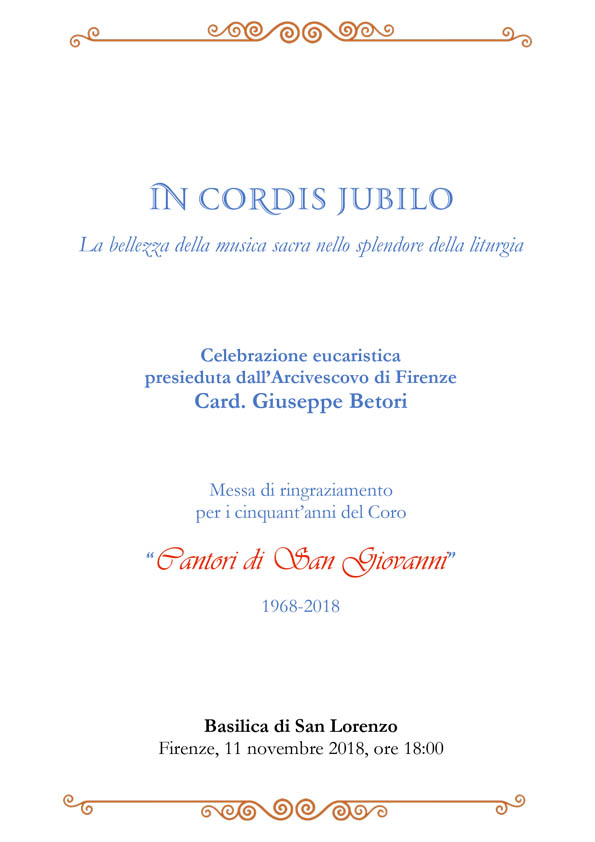 In Cordis Jubilo - Cantori di San Giovanni